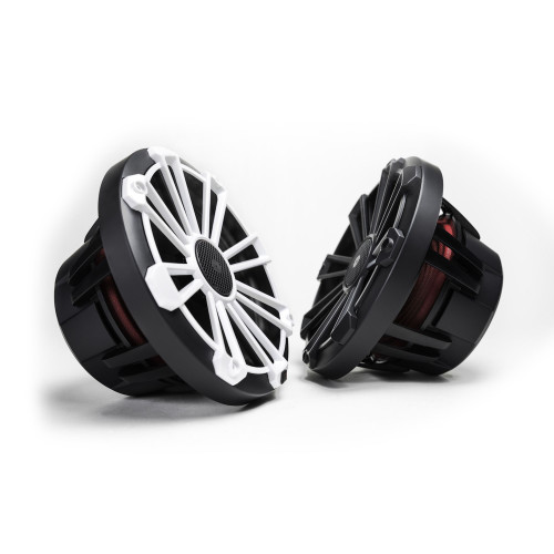 MB Quart NP1-120 Nautic Premium Waterproof 8 Inch Marine Speakers (black, Pair) With 3 Grill Colors Included.