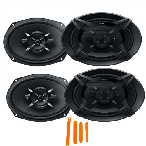 Sony Two pairs XS-FB6930 6 x 9 in (16 x 24 cm) 3-Way Speakers