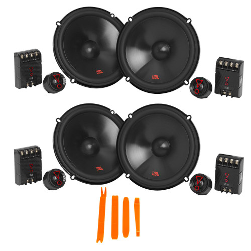 """JBL STAGE3 2-Pairs of Stage3 607CFAM 6.5"""" 2-Way Component Speakers - No Grills"""