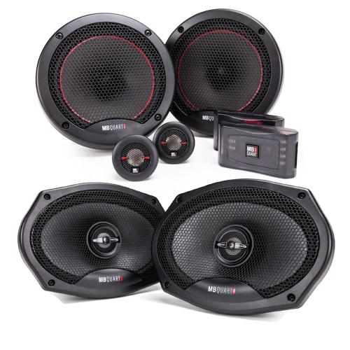 "MB Quart PS1-216 6.5"" Component Speakers with PK1-169 6x9"" Coaxial Speakers Premium Bundle"