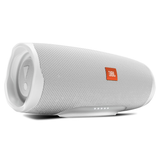 JBL CHARGE4 White Waterproof portable Bluetooth speaker with 20 hours of playtime