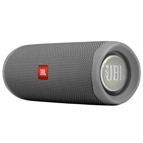JBL FLIP5 Gray Waterproof portable speaker with Bluetooth, built-in battery, microphone