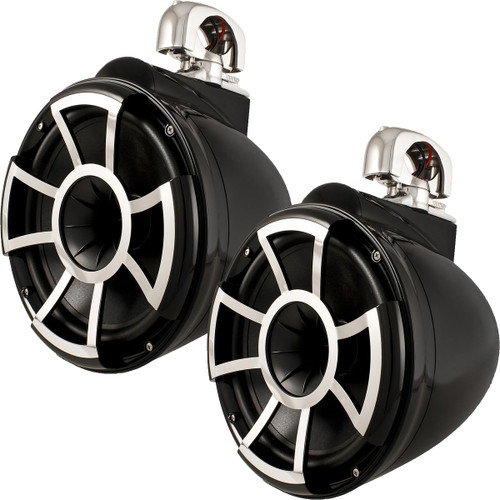 Wet Sounds REV 10 Swivel Clamp Tower Speakers - Black (Pair)