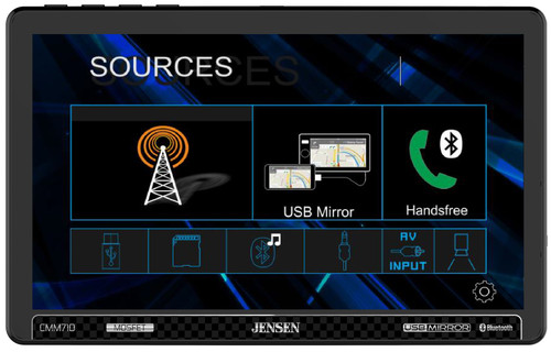 "Jensen CMM710 10.1"" Multimedia Receiver With USB Screen Mirroring"