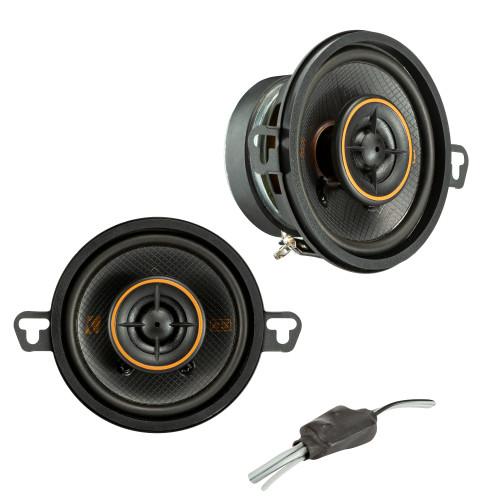 "Kicker 47KSC3504 KS Series 3.5"" Coaxial Speakers With .5"" Tweeters, 4ohm"