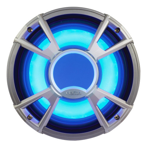 Clarion CMQ2512WL 10-Inch 400-Watt Marine Subwoofer with LED Grill