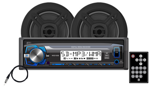"DUAL MCP103B - Digital Media Receiver with SD Card, USB Inputs and 6.5"" Speakers"