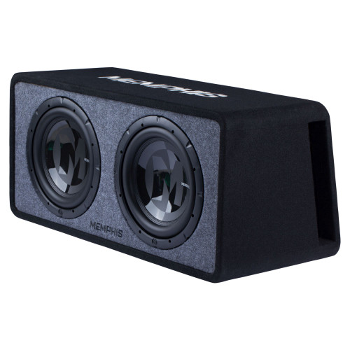 "Memphis Audio PRXE12D1 Dual 12"" Power Reference Series Loaded Enclosure 1-Ohm"