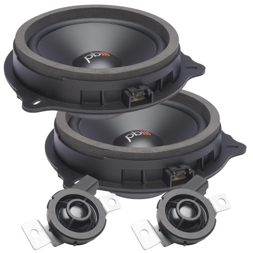 """PowerBass OE65C-FD - 6.5"""" Ford OEM Replacement Component Speakers - Pair"""