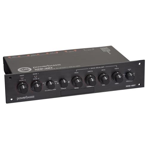 PowerBass XEQ-4BT - 4 Band Bluetooth Multi-Zone PreAmplifier / Eq
