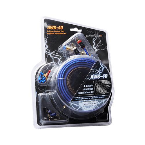PowerBass AWK-40 - 4 Gauge A/S Complete Amplifier Wiring Kit