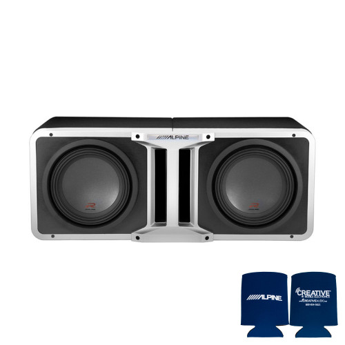 Alpine Pair of R-SB12V Pre-Loaded R-Series 12-inch Subwoofer Enclosures, with KTX-H12 Linking kit