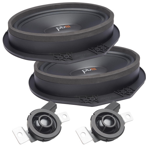"""PowerBass OE69C-FD - 6x9"""" Ford OEM Replacement Component Speakers Kit - Pair"""