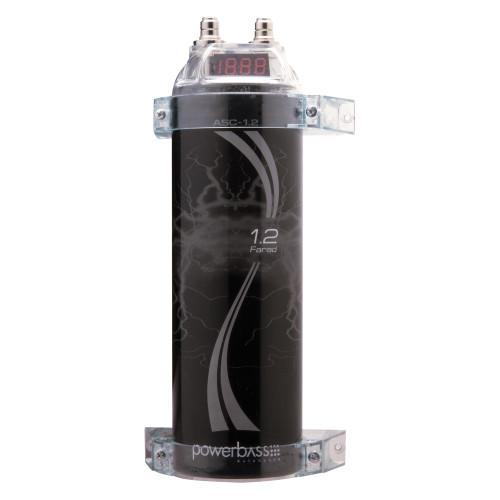 PowerBass ASC-1.2 - 1.2 Farad Digital Capacitor
