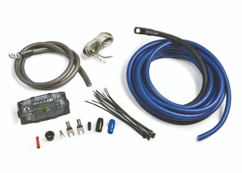 Kicker 46PK4 PK4 4-AWG Amplifier Power Kit - Power, Ground, Remote Wire and Fuse Block.