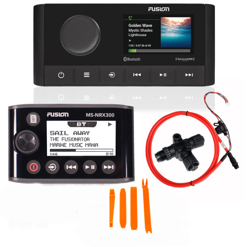 Fusion MS-RA210 Marine Entertainment System with MS-NRX300 Wired Remote
