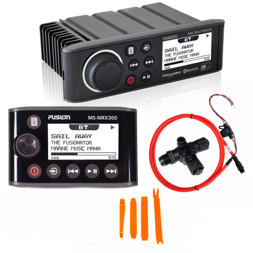 Fusion MS-RA70NSX Marine Entertainment System with MS-NRX300 Wired Remote
