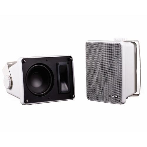 Kicker Refurbished KB6000W Outdoor Speaker White (Pair)