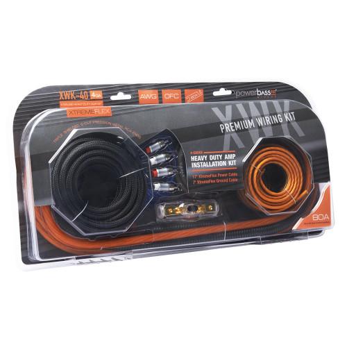 PowerBass XWK-40 - 4 Gauge Premium OFC Amplifier Wiring Kit