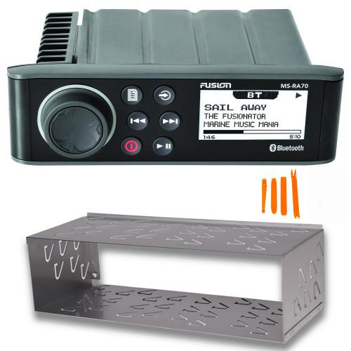 Fusion MS-RA70 Marine Radio System with MS-RA70DC Din Cage