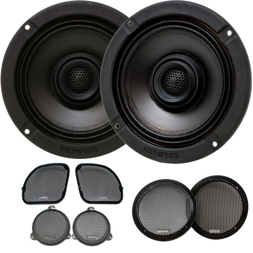 """Memphis Audio MXA62HD 6.5"""" Direct Upgrade Speakers Compatible With Harley Davidson 2014+ Street Glide & 2015+ Road Glide"""