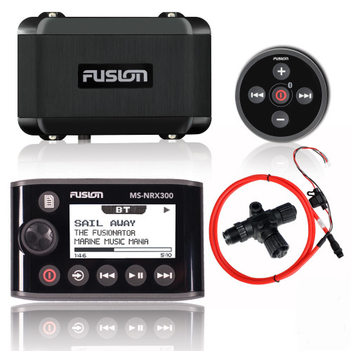 Fusion MS-BB100 Black Box Radio System with MS-NRX300 Wired Remote with Display