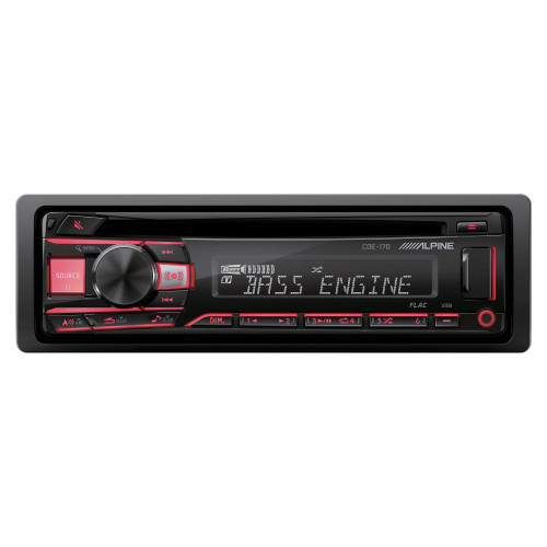 Alpine CDE-170 CD/MP3/WMA And USB Receiver - Open Box