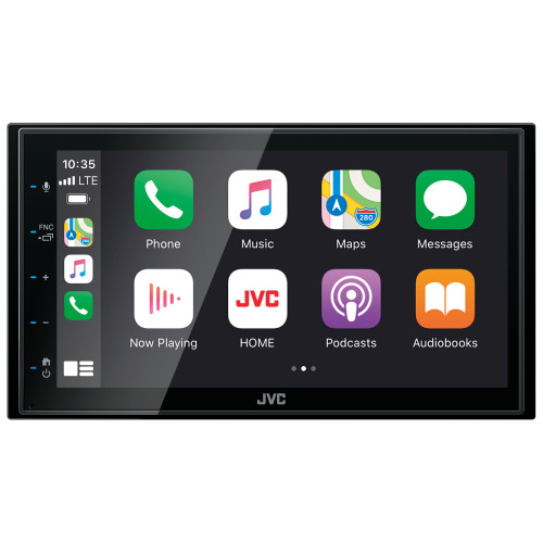 """JVC KW-M56BT Digital Media Receiver w/ 6.8"""" Touch Panel Compatible With Apple CarPlay & Android Auto + Bluetooth, 13-Band EQ, Shallow Chassis"""