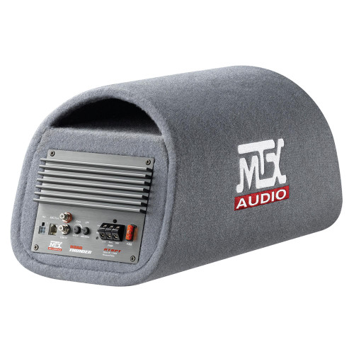 """MTX Audio RT8PT RoadThunder 8"""" 120W RMS Amplified Vented Subwoofer Tube"""