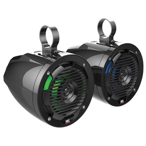 "MTX Audio MUD65PL All-Weather 6.5"" 50W RMS 4Ω Cage Pod Speaker Pair w/ RGB LED"
