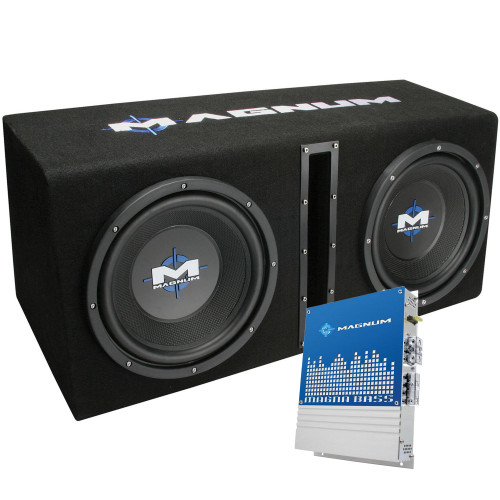 "MTX Audio MB210SP Magnum Series Dual 10"" 400W RMS Vented Enclosure with Amplifier"