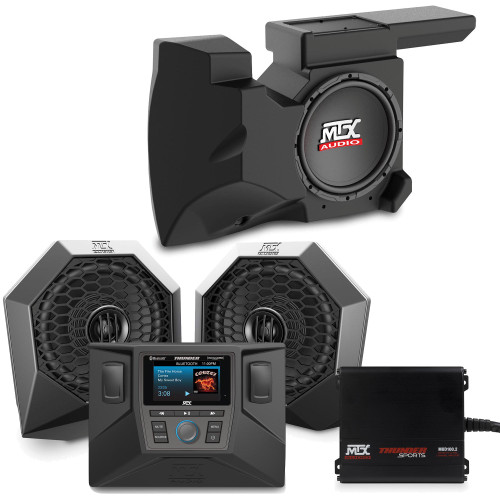 """MTX Audio RZRSYSTEM2 - Includes An All Weather Radio, A Pair Of Speaker 6.5"""" Pods, A 200-Watt Amplifier & Loaded 10"""" Subwoofer Enclosure For Select 2014-2018 Polaris RZR"""