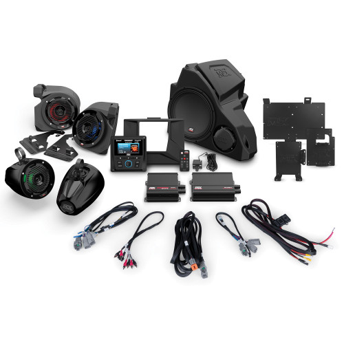MTX Audio RZR-14-THUNDER5 5-speaker amplified audio system for 2014+ Polaris RZR vehicles Without RideCommand