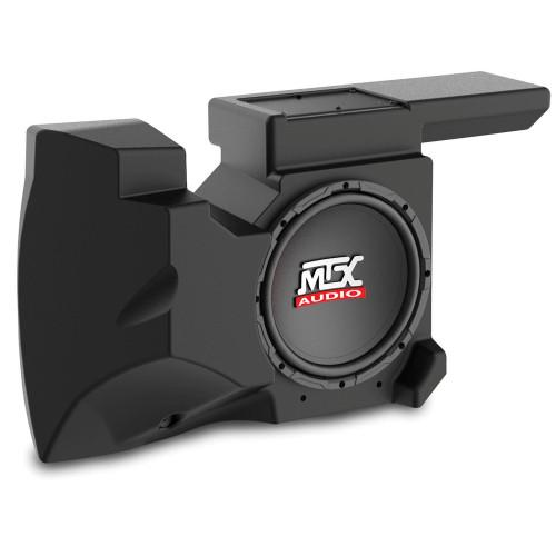 "MTX Audio RZRXP-10 Amplified 10"" Subwoofer Enclosure - Compatible With Select 2014-2018 Polaris RZR XP900 and XP1000 Vehicles"