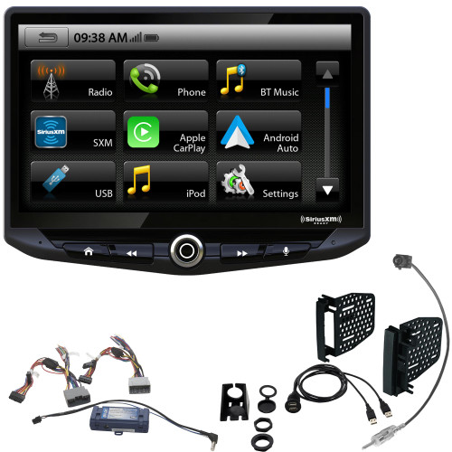 "Stinger Wrangler JK (11-18) Radio Replacement Kit- Stinger Heigh10 10"" Infotainment System with Android Auto, CarPlay, Bluetooth, with Dash Kit, Interface, Dual USB Port & Antenna Adapter"