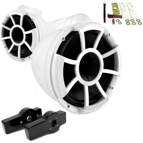 "Wet Sounds for CENTURION MAXIMUS - REV10 10"" White Tower Speakers & CENTURION MAXIMUS Tower Adapters"