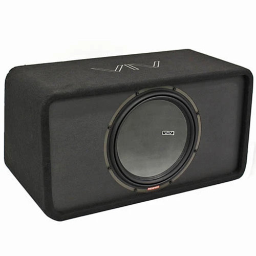 "Memphis Audio Single 14"" Loaded Enclosure 4400W Max 1 Ohm VIV Series VIVE14S1"