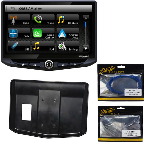 "Stinger HEIGH10 UN1810 10"" Touch Screen Multimedia Receiver Single-DIN Mounting with SE-HFDK Custom Install Bucket Kit"