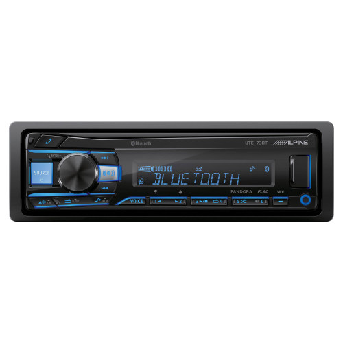 Alpine UTE-73BT Mech-less Digital Media Receiver with Bluetooth® Wireless Technology - Used Acceptable