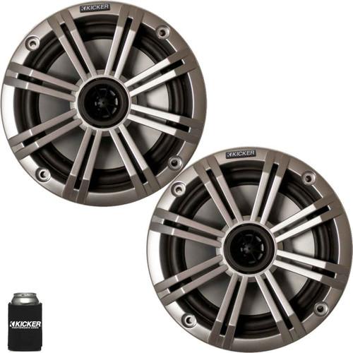 """Kicker 6.5"""" Silver Marine Speakers (QTY 2) 1 pair of OEM replacement speakers"""