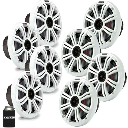 "Kicker 6.5"" White Marine Speakers (QTY 8) 4 pairs of OEM replacement speakers"
