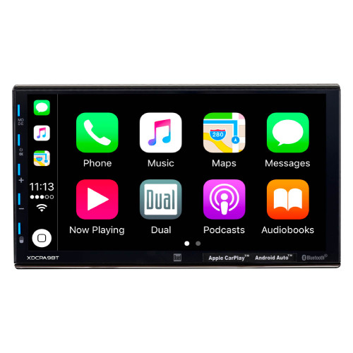 """Dual Electronics Refurbished XDCPA9BT - 7"""" Double DIN In-Dash Car Stereo with Apple CarPlay, Android Auto & Bluetooth"""