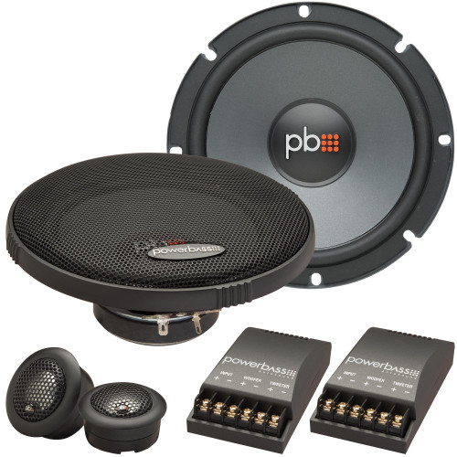 """PowerBass OE-6C - 6.5"""" Component Speaker System - 2-Ohm - Pair"""