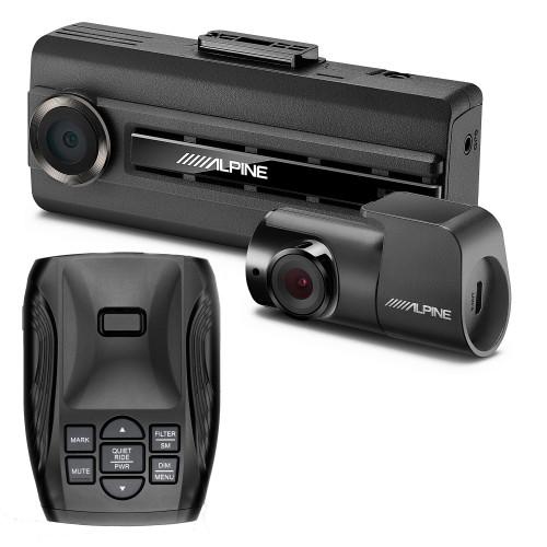 K40 Platinum100 LNA Radar/Laser Detection with GPS Tech, OLED Display - K40-100 with Alpine DVR-C310R Premium 1080P Dash Camera Bundle (Front & Rear) with Impact Recording