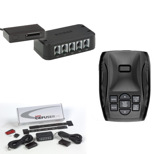 K40-100 Portable Dash Mount Radar Detector with DUAL LDO Dual Laser Defuser Optix Transponders