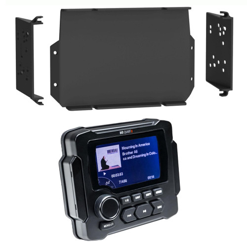 MB Quart GMR-LED Waterproof Marine Radio with MPS-GEN02 16-20 Polaris General Dash Kit