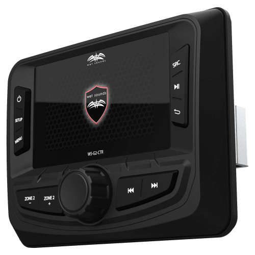 Wet Sounds WS-G2-CTR Wired Transom Remote with Full Color Display for WS-MC-20