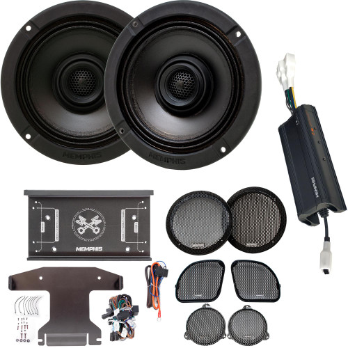 Memphis Audio MXAHDPRO2 2 6.5 Inch Speaker Motorcycle Audio compatible with Harley Davidson Direct OEM Kits