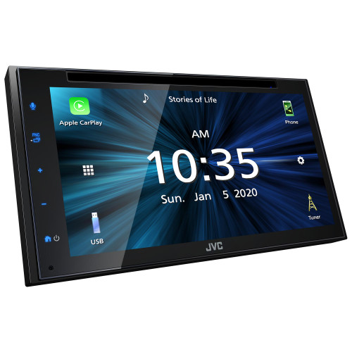 """JVC KW-V660BT Multimedia Receiver featuring 6.8"""" Capacitive Touch Monitor / Apple CarPlay / Android Auto / USB Mirroring for Android Phones / Bluetooth® / 13-Band EQ"""