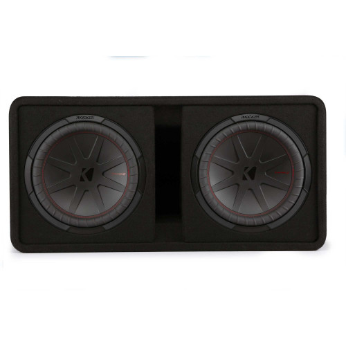 """Kicker 48DCWR122 CompR 12"""" dual subwoofers in vented enclosure, 2ohm"""